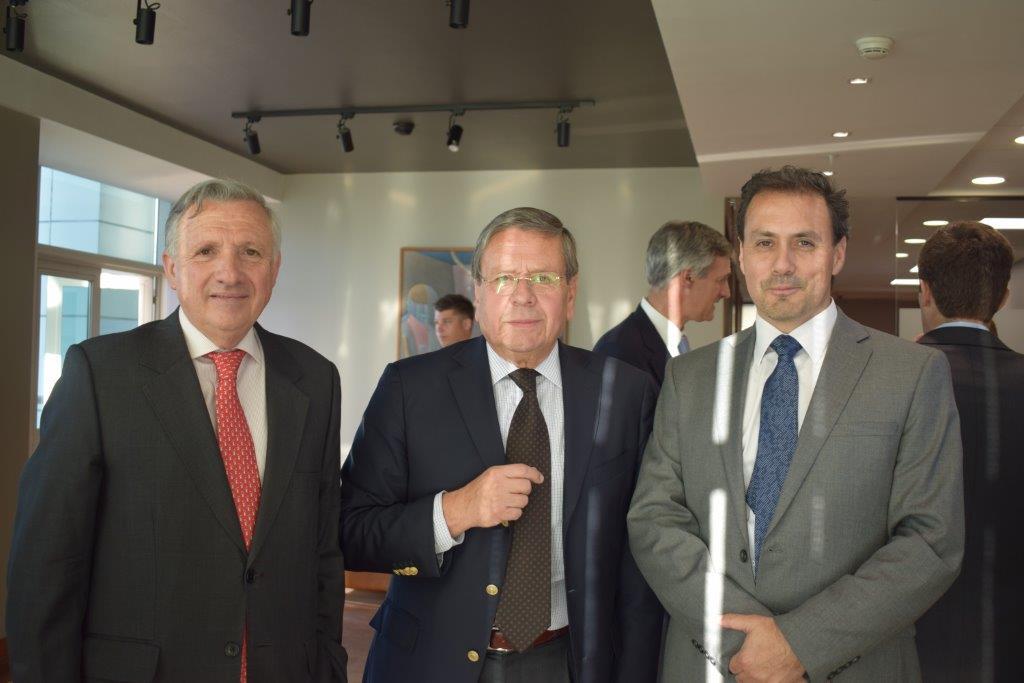 Enrique Zenteno, Francisco Gazmuri y Raúl Montero