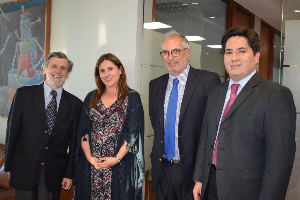 Julio Zenteno, Paula Pérez, Cristián Quinzio y Arturo Pino