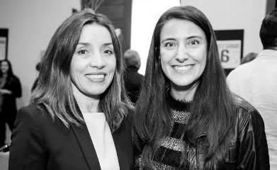 Loreto Bresky, socia de Alessandri y miembro del panel de expertos y Bernardita Araya.